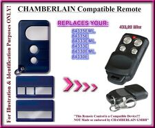 Compatible with Chamberlain 84335E Remote Control, 433,92Mhz  Rolling code!!!