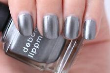 "NEW! Deborah Lippmann TAKE THE ""A"" TRAIN Nail Polish ~ Gray Pewter Metallic"
