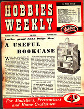 Vintage Hobbies Weekly Magazine, Aug 1954 No3068,  A Useful Bookcase