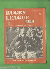 #QQ. THE RUGBY LEAGUE NEWS, 9-11th July 1973, Newtown Jets Cover