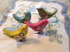 Country birds springtime collectibles colorful happy wire legs  yellow