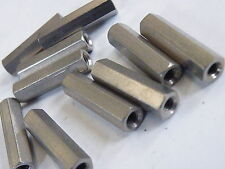 "10x Brass Hex Spacer Stand Off Pillar 4BA x 1"" Ni Plated Electronics etcTS11-4BA"