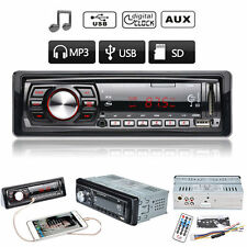 Car In-Dash Stereo Radio Player Audio Auto FM Receiver SD/USB/AUX MP3 Player 12V