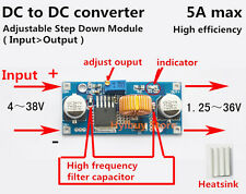 DC-DC 4-38V to 3.3V 6V 9V 12V 24V 5A Buck Step-down Converter Voltage Regulator