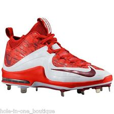 New Nike Air Max MVP Elite 2 3/4 Metal Baseball Cleats Red Camo White Size 14