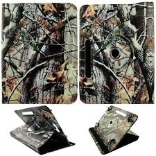 Brown Oak Camouflage For HP Slate S8 8 inh Tablet Case Cover Syn Leather Gl