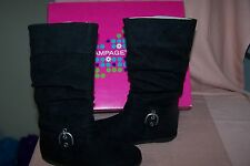 Rampage Girl's Black Boots Style: Amanda NEW in Box Side Zipper Pretty Size 11 M