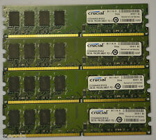8GB DDR2 PC2-6400  4 x 2GB CRUCIAL CT25664AA800 DDR2 RAM 800 MHz DIMM 240-pin