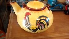 COLORFUL ROOSTER / CHICKEN TEAPOT WITH LID ~ COUNTRY FARM KITCHEN DECOR