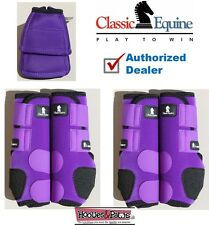 MEDIUM Purple CLASSIC EQUINE Front Rear Legacy Horse Leg No Turn Bell Boots