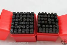 "72 PC METAL NUMBER & LETTER STAMP PUNCH CASE 1/8"" & 1/4"