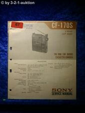 Sony Service Manual CF 170S Cassette Recorder (#0067)
