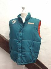 NFL MIAMI DOLPHINS GILET BODY-WARMER PUFFA VEST GAMEDAY GREEN (sj2) SIZE XL-XXL