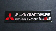 LANCER EVOLUTION MITSUBISHI RALLIART nero alluminio badge