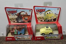 2-SET LUIGI & TOW MATER PULLBAX Disney Pixar Cars 2005 Original Collectible NEW
