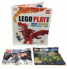 LEGO IDEAS PLAY BOOK + 2 Star Wars Ship Bagged Kit Sets , A GREAT GIFT!