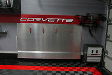 CORVETTE C6  Garage Sign 8 Feet Wide Brushed Silver