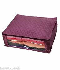 purple Combo of 3 Saree Cover &1 Blouse Case-Capacity 5-6 Sarees  9-10 Blouses