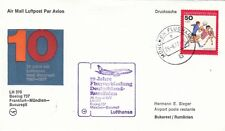(44467) Germany Lufthansa Cover Munich - Budapest 10 Years 26 August 1977