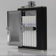 BD6oz Hip Flask Gift Portable Pocket Stainless Steel with Cigarette Alcohol Case