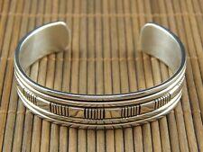 Bruce Morgan Native American Navajo Sterling Silver Bracelet