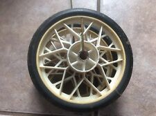Pair Of White Frame Plastic Wheels , Toy Or Buggy Wheels