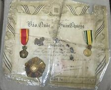 ARVN South Vietnamese National Order Special Document W/3 Medals Set