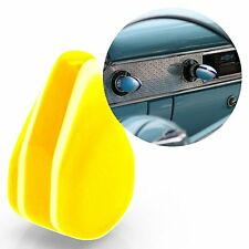 Yellow Small Tear Shape Dash Knob Radio On/Off 12v Switch spotlight headlight