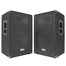 "NEW PAIR 15"" SEISMIC AUDIO PA SPEAKERS DJ/Band Speaker"