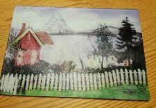 Astoria Oregon tempered glass cutting board 8 x 11 Columbia River Bridge scene