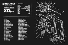 Springfield XD(s) Armorers Gun Cleaning Bench Mat Exploded View Schematic Parts
