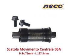 0195 Scatola Movimento Centrale NECO 127,5mm-BSA per bici 26-28 Fixed Scatto Fis
