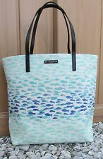 NWT Kate Spade Make A Splash Plenty of Fish Bon Shopper Tote Bag NEW