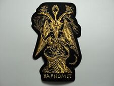 BAPHOMET  GOLD   EMBROIDERED  PATCH