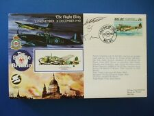 1990 BATTLE OF BRITAIN THE NIGHT BLITZ BELIZE TRIPLE SIGNED FIRST DAY COVER
