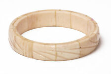 MARBLE LOOK VINTAGE STONE CARVED LOOK BANGLE UNIQUE (ZX12)