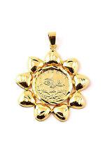 Tugra Kette Anhänger Sonne Türkische Gold Münze 24 Karat vergoldet Altin Kaplama