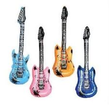 "6 INFLATABLE GUITARS ROCK AND ROLL 24"" Party Favor Star #AA62 Free Shipping"