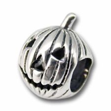 PUMKIN FACE Sterling Silver Bead for European Bracciale con Charm-Halloween 828