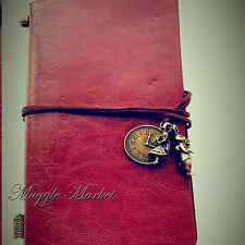 Brown colour Journal Alice in wonderland clock rabbit charm fantasy diary