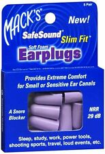 Macks Safe Sound Slim Fit Soft Foam Earplugs 5 Pairs (Pack of 4)