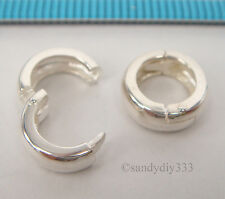 1x STERLING SILVER CHANGEABLE PENDANT CLASP BAIL SLIDE Donut Holder 10mm #2225