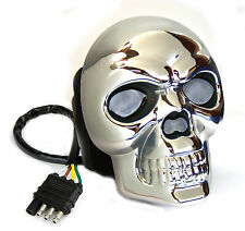 NEW SEALED Reese 86523 LIGHTED Skull Hitch Receiver Tube Cover