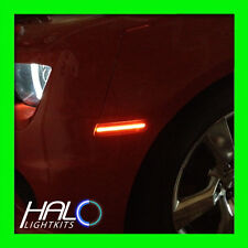 2010-2014 ORACLE CHEVY CAMARO CONCEPT INFERNO ORANGE GHOSTED LED SIDE MARKER 4PC