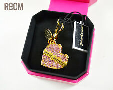 JUICY COUTURE 2014 LIMITED EDITION PAVE PINK HEART CANDY BOX CHARM