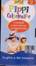 PIPPI CALZELUNGHE 2 vhs Långstrump-in giro a far compere- Inger Nilsson