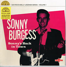 "SONNY BURGESS - SONNY'S BACK IN TOWN (10 trax  10"" VINYL LP - 50s SUN ROCKABILLY"