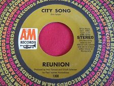 ROCK POP 45 - REUNION - CITY SONG / NO GOOD ALONE - A&M 1308 VG++