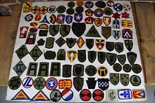 Lot of 90+ Assorted Military Army Patches