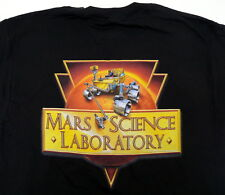 MARS SCIENCE LABORATORY CURIOSITY ROVER BLACK T SHIRT 2XL JPL NASA  NEW